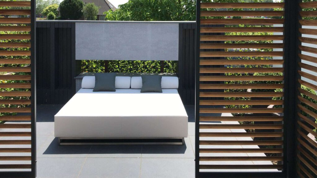 large outdoor lounger